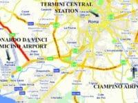 Aeroporti di Roma: difficili i collegamenti con il centro