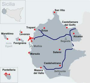 Voli per Trapani: la utile mappa della provincia