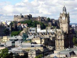 Edimburgo: una bella vista con il Castello